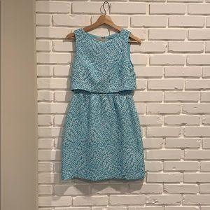 Sophisticated Blue Patterned Dress - The Limited